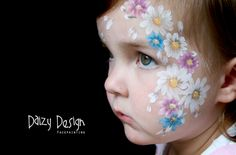 Face Painting daisies. Gotta love daizy's daisies. face painting ideas for kids