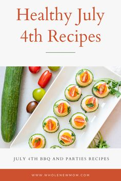 Healthy 4th July Food and Recipe ideas for BBQ/s and Parties. You can have the ultimate 4th July with these easy recipes for all the family including the kids. From appetizers to salads and grilling ideas there is something for everyone. You can indulge in these  simple and easy healthy recipes without feeling guilty! Yummy Healthy Snacks, Healthy Pizza, Healthy Appetizers, Healthy Dinner Recipes, Low Carb Recipes, Real Food Recipes, Easy Recipes, Sweet Potato Buns, Salad With Sweet Potato