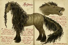 Care of Magical Creatures Assignment - Kelpie by CelticBotanYou can find Magical creatures and more on our website.Care of Magical Creatures Assignment - Kelpie by CelticBotan Mythical Creatures Art, Mythological Creatures, Spiderwick, Beast Creature, Arte Obscura, Legends And Myths, Fantastic Beasts And Where, Creature Design, Monsters