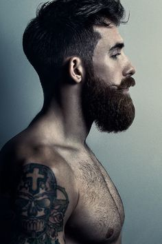 i adore his beard, his body, his tattoos, him ;)