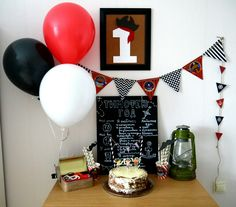 Pirates party birthday. One year.
