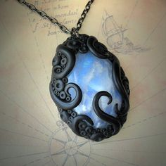 Tentacled Moonstone Necklace