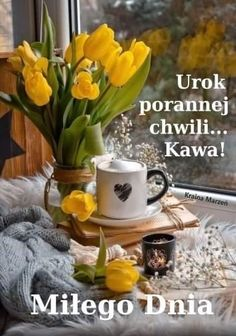 Morning Images, Good Morning, Beautiful Places, Table Decorations, Coffee, Tableware, Floral, Nature, Good Morning Wishes