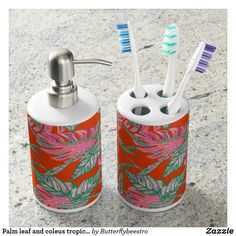 Find a Tropical bath set on Zazzle. With a great toothbrush holder & soap dispenser, our bath sets are a great addition to your home! Merry Christmas, Christmas Soap, Christmas Bathroom, Christmas Ornament, Christmas Decorations, Ornaments, Floral Bath, Floral Rug, Art Floral