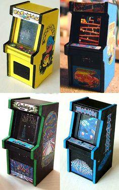 Tiny laser cut arcade cabinets