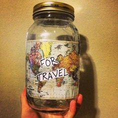 A great idea to save those nickels and pennies for traveling =)