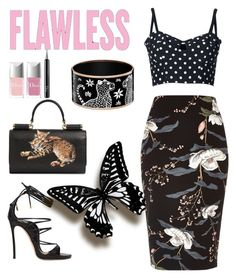 """""""Untitled #506"""" by heavenlystar ❤ liked on Polyvore featuring Dsquared2, River Island, Dolce&Gabbana and Christian Dior"""