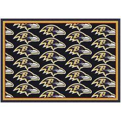 "Baltimore Ravens 92"" x 129"" Repeating Rug - $449.99"