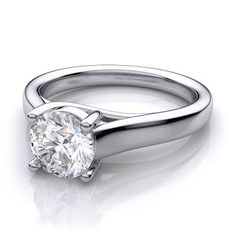 Image result for solitaire diamond ring