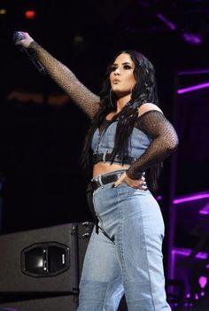 Demi Lovato at Z100 Jingle Ball in New York - December 8th