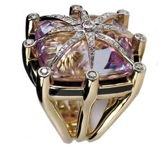 TONY DUQUETTE  Amethyst Ring. V #Rings #Jewelry #Fashion    For more beautiful rings see:        http://www.ringsoftheworld.com