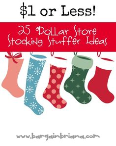 25 Dollar Store Stocking Stuffer Ideas for $1 or Less