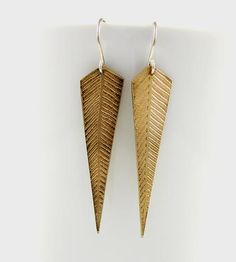 Jena Brass Earrings by Amanda Hagerman Jewelry on Scoutmob Shoppe