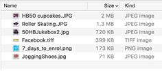 Understanding file size for images