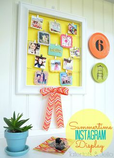 Highlight sweet summer memories with this instagram photo display DIY via Tatertots and Jello
