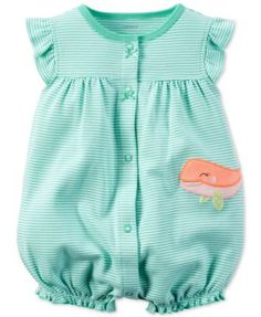 Carter's Baby Girls' Whale Romper