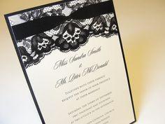 UMA Vintage Lace Wedding Invitation