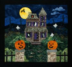 Haunted House Pieced Quilt Pattern by Cynthia England