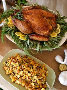 Roast Turkey With Lemon and Sage - Recipes for Your Thanksgiving Feast on HGTV