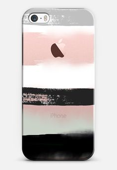 Large Watercolor Stripes 3 iPhone SE case by Jande Laulu | Casetify