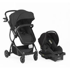 Urbini Omni Plus Travel System Outdoor Bassinet Black Carseat Stroller Baby Set