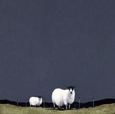 Ron Lawson Sheep Paintings, Animal Paintings, Illustrations, Illustration Art, Sheep Art, Art Folder, Naive Art, Art Graphique, Watercolor Animals