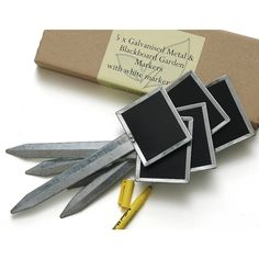 Metal And Blackboard Plant Labels With Pen
