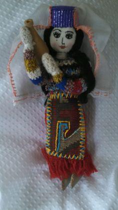 "Armenian Doll in Ethnic Dress Costume - Handmade from Armenia 11"" Tall #DollswithClothingAccessories"