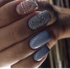 20 Stiletto Nail Art Design Ideas For Prom In 2020 Spring and Summer - ibaz Cute Short Nails, Short Nails Art, Stiletto Nail Art, Coffin Nails, Great Nails, Perfect Nails, How To Do Nails, My Nails, Blue Nails