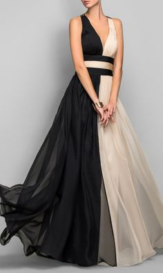 Two tone gown