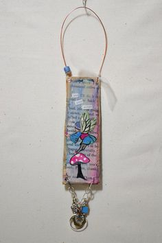 use your wings fairy mixed media ornament by 3BoxStudios on Etsy