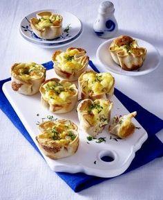 Das Rezept für Toastmuffins mit Käse-Schinken-Füllung und weitere kostenlose Rezepte auf LECKER.de