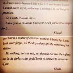 I live Khalid so much--The Wrath and the Dawn