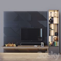 Electric Fires, Tv Sets, Wood Glass, Modern Materials, Tv Unit, Cladding, Colored Glass, Wall Tv, Shelves