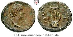 RITTER Lesbos, Mytilene, Autonome Prägung, Nausikaa, Lyra #coins