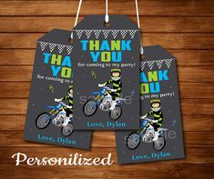 Motocross Thank you favor tags, Motocross party, Motocross Birthday, Chalkboard - Digital Printable File by Uptownparty on Etsy Karate Birthday, Twin Birthday, Printable Invitations, Birthday Invitations, Printables, Birthday Chalkboard, Printed Materials, I Party, Favor Tags