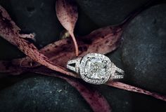 Amazing 3.5ct cushion cut diamond in a 1ct. vintage white and rose gold setting. #ring #engagement #wonderjewelers