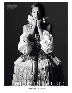 visual optimism; fashion editorials, shows, campaigns & more!: daria werbowy by david sims for vogue paris august 2013