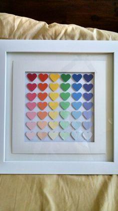 Heart paint chip art