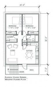 Barn apartment - floor plan