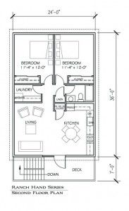 Barn apartment - floor plan
