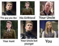 Avengers Endgame memes funny Captain America you like Marvel Avengers, Avengers Memes, Marvel Funny, Marvel Movies, Superhero Memes, Marvel Characters, Chris Evans, Nerd, Dc Memes
