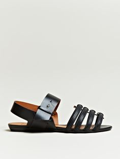 GIVENCHY WOMEN'S VEGETABLE DYED ZIP SANDALS