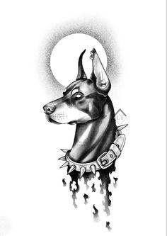 Best Leg Tattoos, Dog Tattoos, Body Art Tattoos, Chicano Art Tattoos, Anime Tattoos, P Tattoo, Arm Band Tattoo, Dobermann Tattoo, Bio Organic Tattoo