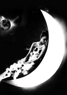 Cancer Moonchild, clairvoyant of the zodiac, mother sign of the zodiac. Good natural cook and very emotional and intuitive. Space age fashion by Emanuel Ungaro. Photo by Guy Bourdin. Guy Bourdin, Guy Aroch, Nocturne, Cosmos, Art Photography, Fashion Photography, Cancer Moon, Moon Goddess, Space Age