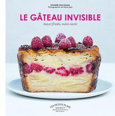 http://www.marabout.com/le-gateau-invisible-9782501097413 Des recettes de gâteaux presque 100 % fruits (ou légumes) où la pâte à gâteau est absorbée par les fruits jusqu'à devenir « invisible ».