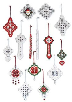 See the pretty Hardanger Holiday Ornaments #5 at Nordic Needle