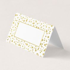Gold Confetti Wedding Folded Place Cards