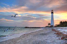 Cape Florida Lighthouse Old Florida, Florida Travel, Florida Beaches, Clearwater Florida, Sarasota Florida, Beach Travel, South Florida, South Carolina, Cape Florida Lighthouse