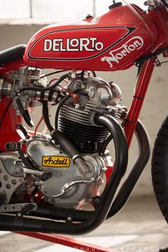 douglas-macrae:  1976 Ron Wood built Norton flat tracker- this bike is the #44 machine that won the Ascot National in '78; Nortons last victory ©Douglas MacRae